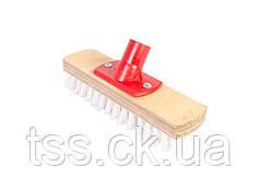 Щетка хозяйственная ГОСПОДАР 230х60х46 мм деревянная с пластиковым креплением без ручки 92-0128