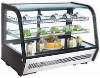 Настольная витрина RTW-160L EWT INOX  (холодильная кондитерская)
