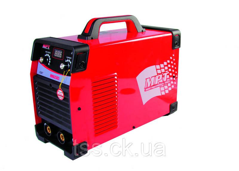 Зварювальний апарат інверторного типу PROFI 380V 20-250 А, 1.6-5.0 мм, аксесс. 6 шт MPT MMA2503