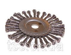 Щітка дискова D180 з батоги. дроту отв. 22,2 мм MASTERTOOL 19-9018