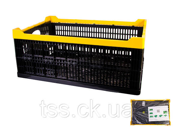 Ящик складной пластиковый MASTERTOOL 600х400х240 мм черный 79-3950, фото 2