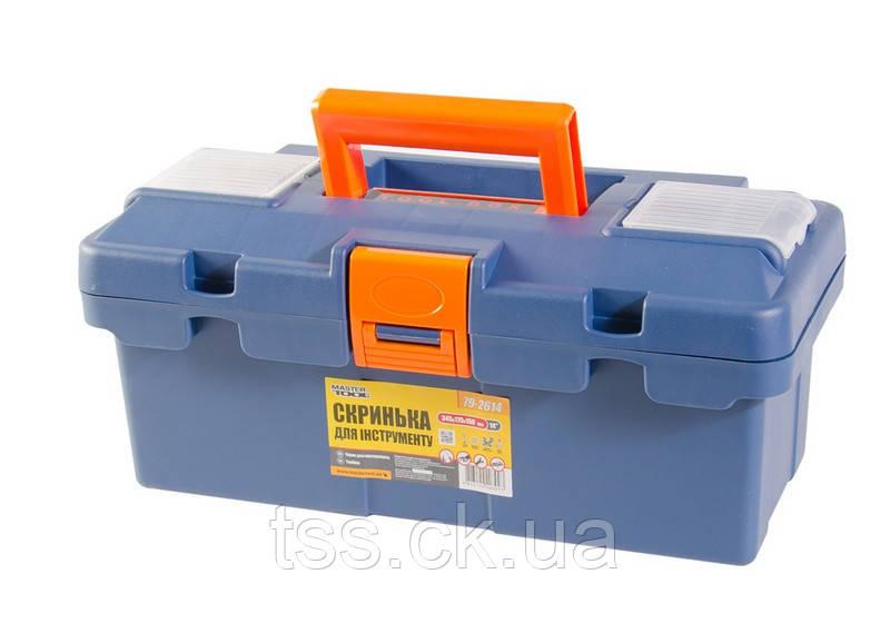 "Ящик для инструмента MASTERTOOL 14"" (345х170х150 мм) пластиковые замки 79-2614"