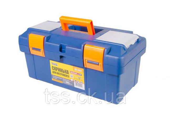 """Ящик для інструменту 17"""" (420*220*195 мм), пластикові замки MASTERTOOL 79-2617, фото 2"""