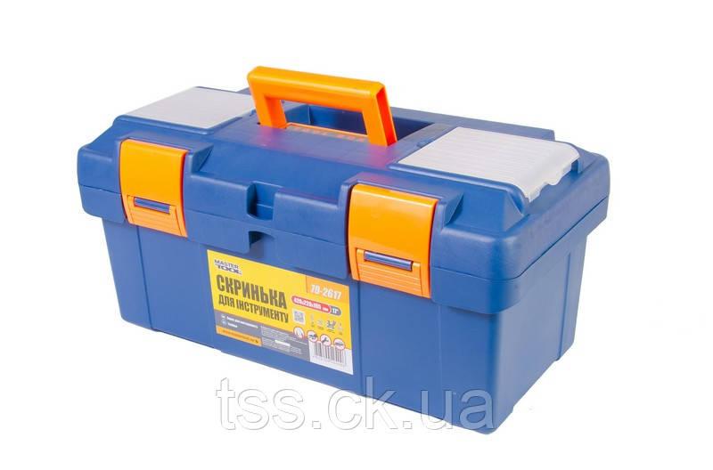 """Ящик для інструменту 17"""" (420*220*195 мм), пластикові замки MASTERTOOL 79-2617"""