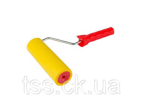 Валик прижимной обойный 58/180 мм  d 8 мм с ручкой MASTERTOOL 92-6418, фото 2