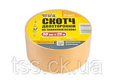 Скотч двусторонний на тканевой основе MASTERTOOL 50 мм 25 м 77-6525