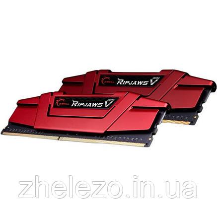 Модуль пам'яті DDR4 2x8GB/3600 G. Skill Ripjaws V Red (F4-3600C19D-16GVRB), фото 2