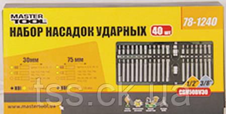 Набор насадок ударных (TORX, HEX, SPLINE), 40 шт MASTERTOOL 78-1240, фото 2