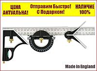 Угольник угломер универсальный комбинированный с уровнем 300 мм SILVERLINE