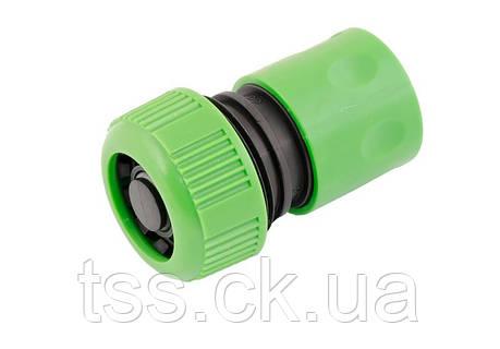 """Коннектор для шланга 3/4"""" с клапаном STOP MASTERTOOL 92-9316, фото 2"""