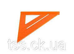 Угольник плотника MASTERTOOL 180 мм пластиковый 30-3516