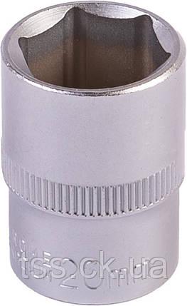 "Насадка торцева 6-гранна 1/2"" 20 мм CRV MASTERTOOL 78-0020, фото 2"