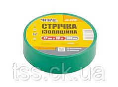 Лента изоляционная MASTERTOOL 0.15 мм 17 мм 10 м 10 шт зеленая 44-9410