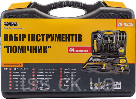 """Набір інструменту """"Помічник"""" 44 елемента MASTERTOOL 78-0345, фото 2"""