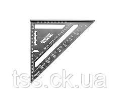 Угольник плотника MASTERTOOL SWANSON 180 мм алюминиевый 30-3518