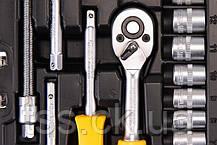 """Набор инструментов 47 ед. 1/4"""" 4-14 мм.,трещотка с храповым механизмом 72 зуба, сталь Cr-V, пластиковый кейс,, фото 2"""