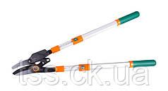 Сучкорез с храповым механизмом, телескопические ручки 700 - 1030 мм, тефлон, AL ручки, наковальня MASTERTOOL
