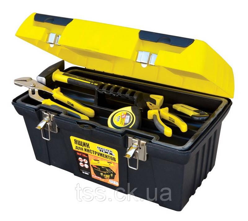 "Ящик для инструмента 19"" (485*275*250 мм) металлические замки MASTERTOOL 79-3052"