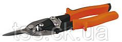 Ножницы по металлу MASTERTOOL 250 мм прямые (прямой рез) CrMo 01-0427