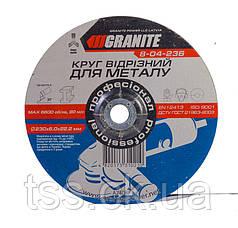 Диск абразивный зачистной для металла 230*6,0*22,2 мм GRANITE 8-04-236
