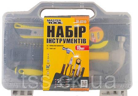 Набір інструменту 15 елементів MASTERTOOL 78-0315, фото 2