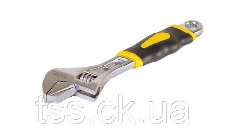 Ключ розвідний 150 мм, 0 - 24 мм з двокомпонентною ручкою, переставна губка MASTERTOOL 76-0421, фото 2