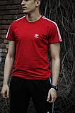 Мужская красная повседневная футболка Adidas, фото 3