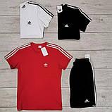 Мужская красная повседневная футболка Adidas, фото 5