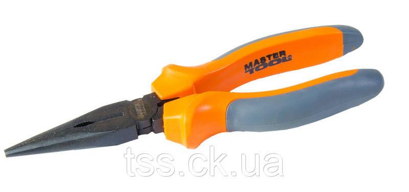 Щипці прямі 180 мм, С50, фосфатовані, HRC 55~65 MASTERTOOL 25-2180