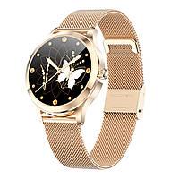 Умные часы Linwear LW07 Metal с измерением пульса и кислорода в крови (Золотой)