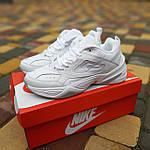 Жіночі кросівки Nike M2K Tekno (білі) 20258 демісезонні низькі шкіряні кроси, фото 4