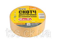 Скотч двусторонний на тканевой основе MASTERTOOL 38 мм 25 м 77-6825