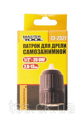 """Патрон для дрели самозажимной 1/2""""- 20, 2.0-13 мм MASTERTOOL 73-2521, фото 2"""