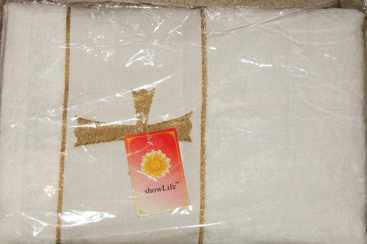 Крыжма полотенце махровае белое