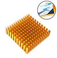 Радиатор алюминиевый для LED матриц VGA MB 40х40х11мм, клейкий