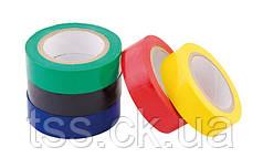 Набор лент MASTERTOOL изоляционных 0.15 мм 17 мм 10 м 5 шт синяя/красная/желтая/зеленая/черная 44-9000