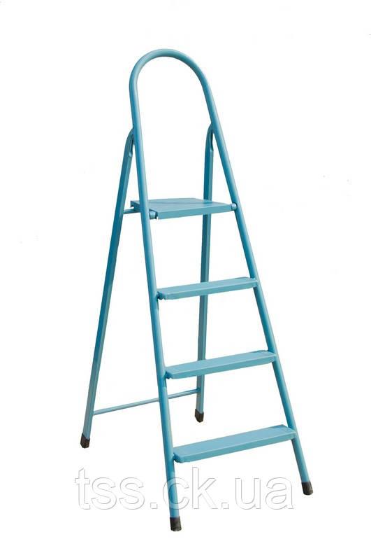 """Лестница-стремянка металлическая """"ИТАЛИЯ""""  4 ступени, h=870 мм, max 150 кг ГОСПОДАР 79-1044"""