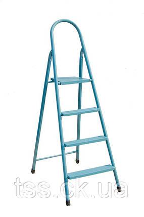 """Лестница-стремянка металлическая """"ИТАЛИЯ""""  4 ступени, h=870 мм, max 150 кг ГОСПОДАР 79-1044, фото 2"""