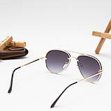 Мужские золотистые солнцезащитные очки, фото 3