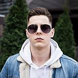Мужские золотистые солнцезащитные очки, фото 5