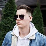 Мужские золотистые солнцезащитные очки, фото 6
