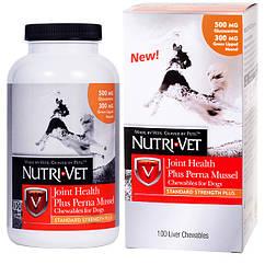Nutri-Vet Joint Health Plus Perna Mussel жевательные таблетки с глюкозамином, мидиями, МСМ для собак