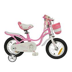 """Велосипед для девочки 4-х колесный RoyalBaby LITTLE SWAN 16"""", OFFICIAL UA, розовый,  детский от 4 до 6 лет"""