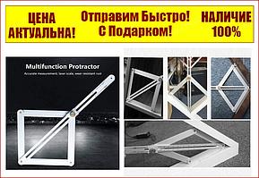 Линейка угломер алюминиевый на шарнирах внешн./внутр. диапазоны - 10-170°/5-85°, длина шкалы - 380 мм ZiK