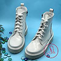 Ботинки белые женские Мартинс