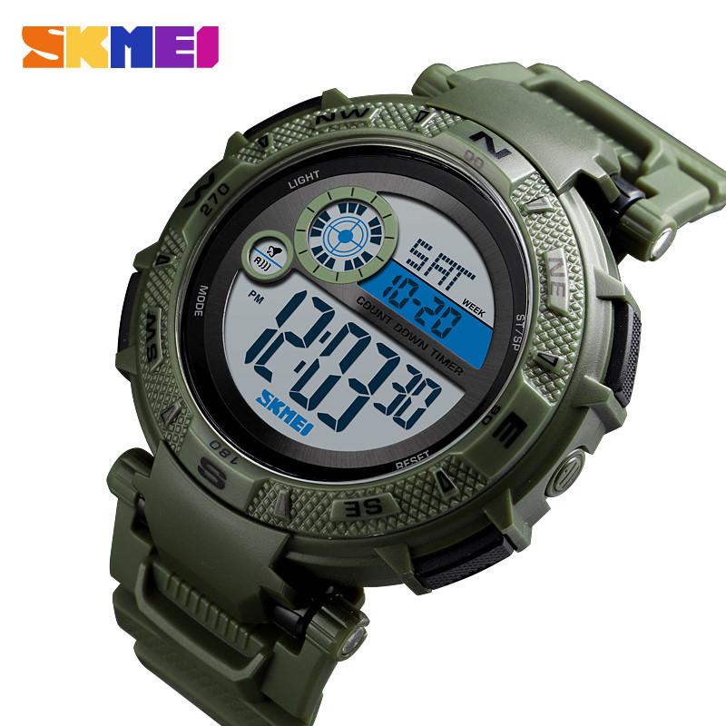 Мужские спортивные часы Skmei 1467 зеленые