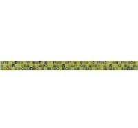 Плитка Opoczno Flora FLORA КВАДРАТИ фриз зеленый 25х450 мм цена за 1 шт