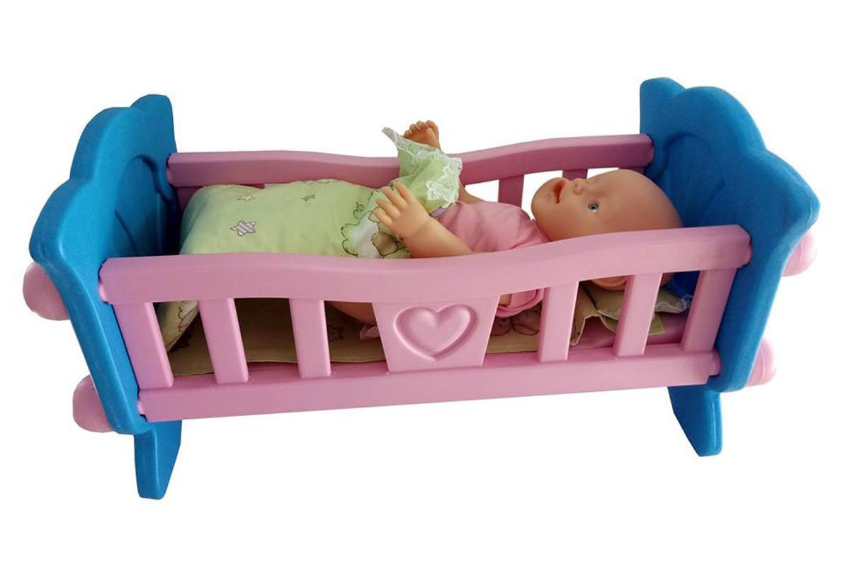 Іграшка ТехноК  Ліжечко для ляльки в коробці 4173