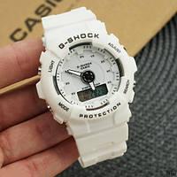 Часы наручные женские белые Casio Baby-G 8200 White / касио джишок белые
