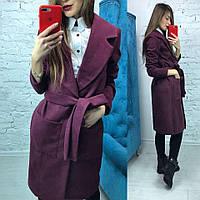 """Пальто """"Верона"""" марсала, фото 1"""